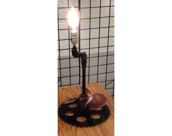 STEAMPUNK Propeller Desk Lamp,Cast-Stone, Aluminum, Steel,Decor, Edison, Gift, Lighting, Office, Desk Accessories