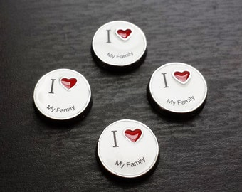I Love My Family Floating Charm for Floating Lockets-Gift Ideas for Women