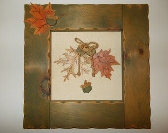 Fall Leaves and Acorns
