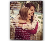 Best Friend Lyrics/ Sister Vows Quotes/ Best Friend Gift Idea/ Custom Canvas Print