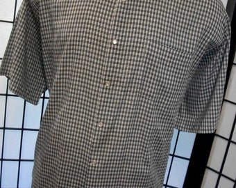 Vintage Duke Haband adult pearl snap western shirt