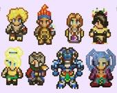 Final Fantasy X Perler Magnets/Keychains! Tidus - Wakka - Yuna - Lulu - Rikku - Auron - Kimahri - Seymour featured image