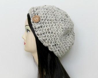 INSTANT DOWNLOAD, Crochet Slouch Hat, Crochet Hat Pattern, Crochet Beanie Pattern, Crochet Pattern, Hat Pattern, Womens Hat Pattern (B35)