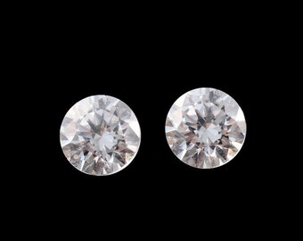 SWAROVSKI ZIRCONIA Set of 2 Loose Gemstones Round Cut 1A Quality 4mm TGW 0.90 cts.