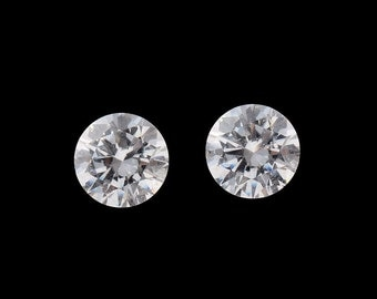 SWAROVSKI ZIRCONIA Set of 2 Loose Gemstones Round Cut 1A Quality 5mm TGW 1.70 cts.