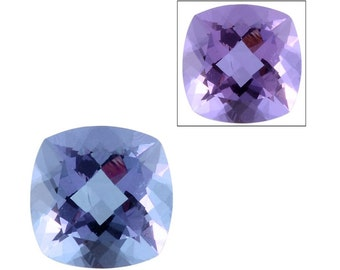 Lavender Alexite Synthetic Color Change Loose Gemstone Cushion Cut 1A Quality 9mm TGW 2.55 cts.