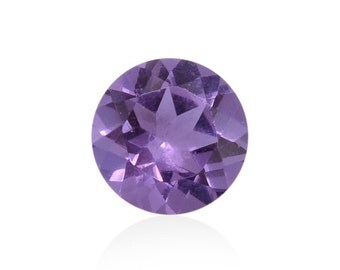 Lavender Alexite Synthetic Color Change Loose Gemstone Round Cut 1A Quality 9mm TGW 1.85 cts.