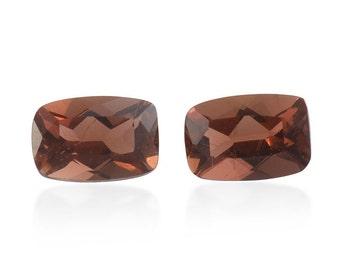 Mocha Scapolite Cushion Cut Loose Gemstone Set of 2 1A Quality 6x4mm TGW 0.80 cts.