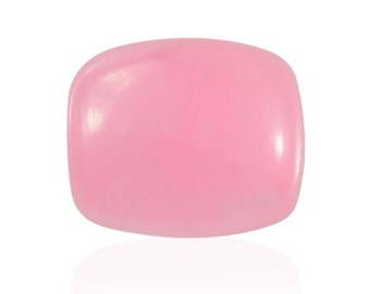 Pink Jade Dyed Cabochon Loose Gemstone Cushion 1A Quality 11x9mm TGW 3.95 cts.