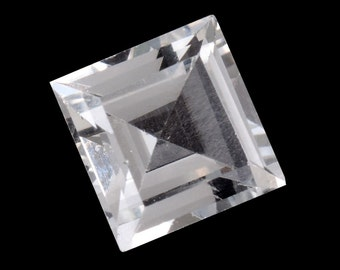 White Topaz Square Cut Loose Gemstone 1A Quality 8mm TGW 2.75 cts.