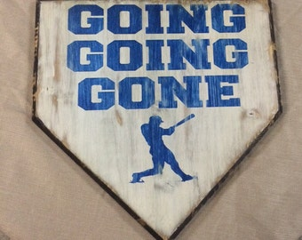 Home Plate wall piece- Gone