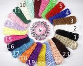 "12pc 1.5"" waffle wholesale baby headband, elastic baby headbands,headband for flowers.,crochet headband for baby girls"