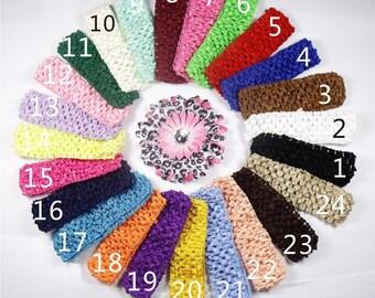 "15pc 1.5"" waffle wholesale baby headband, elastic baby headbands,headband for flowers.,crochet headband for baby girls"