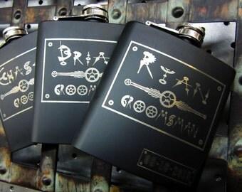 Set of 11 Unique Groomsmen Wedding Flask