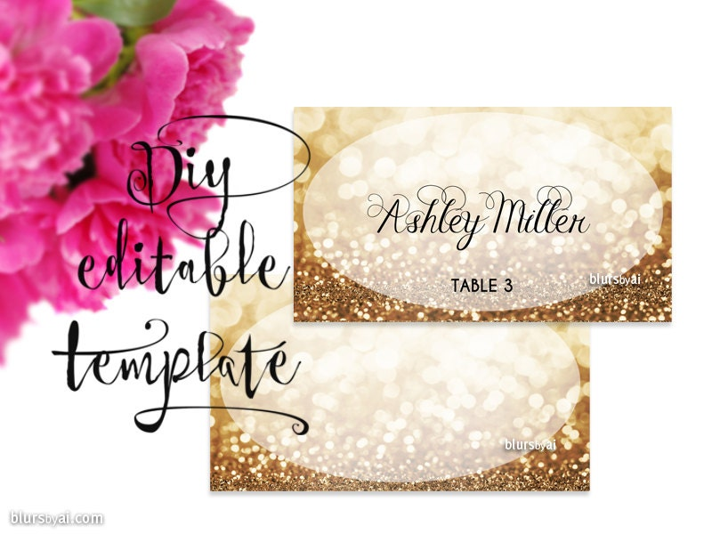 Soft image in printable escort cards