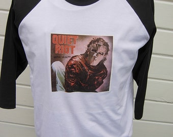 Size XL (48)  ** Old Stock 1980s Quiet Riot Shirt (Deadstock Unworn) (Single Sided)