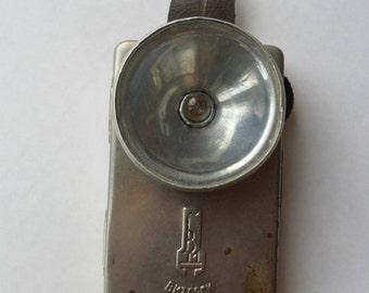 Vintage USSR Metal Flashlight Lantern VITEBSK Old Soviet Item 1960s