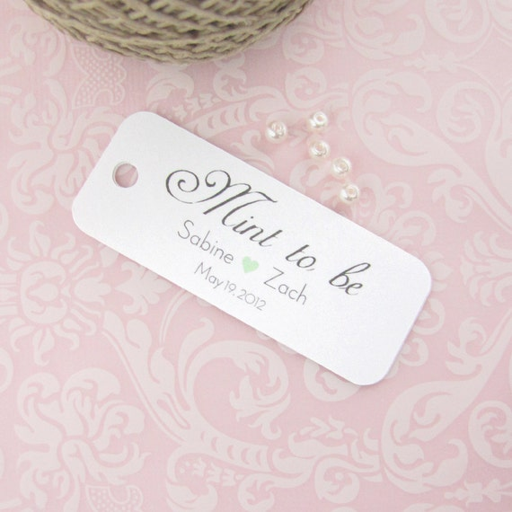 Minted Wedding Gift Tags : Mint to be tag (24)Mint to be wedding favorWedding favor tag ...