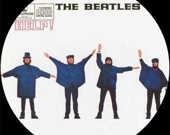 Help! - The Beatles -  12″ LP Vinyl Record Wall Clock