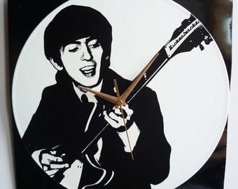 George Harrison – The Beatles – 12″ Vinyl Record Wall Clock