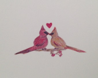Love Birds (romantic greeting card for weddings or special occasions)