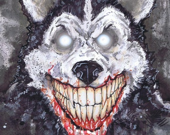 Smile Dog Creepypasta  Poster Print