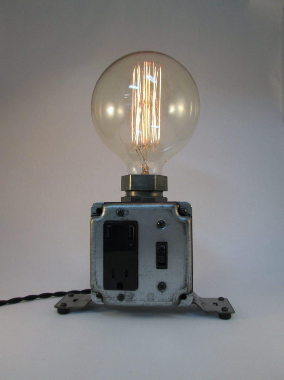 Industrial Charging Station Usb Port Desk Lamp By
