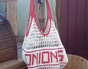 Onion Bag / Onion Storage Bag / Produce Bag / Net Market Bag
