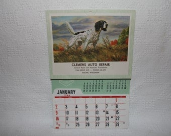 1966 Auto Repair Themed Calendar - Never Used - Very Good to Excellent Condition