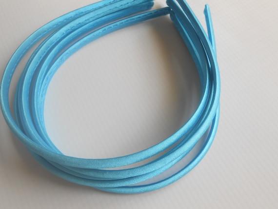 Blue Satin Covered Headbands Wholesale Headbandsbaby