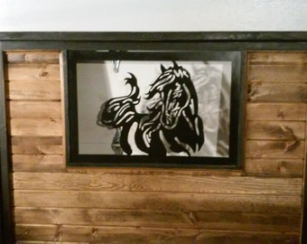 horse themed queen size bed