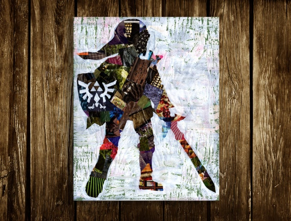 Items similar to legend of zelda wall art zelda poster for Decoration zelda
