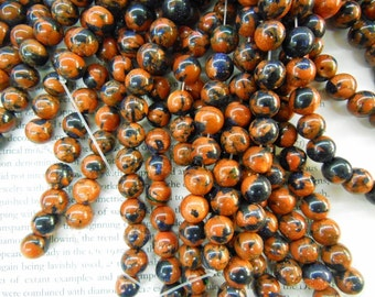 "10mm goldstone round beads, sandstone beads, 16"" strand long"