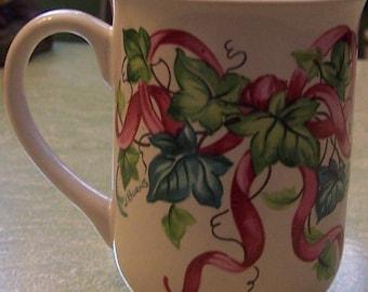 Vintage 1995 Potpourri Designs Ivy J. Burns Peeples mug cup