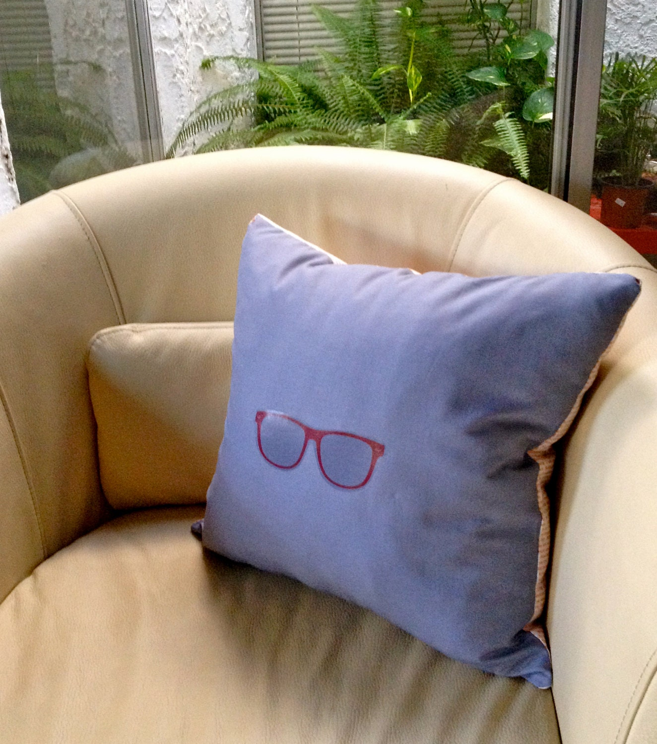 Decorative Reading Pillow : SALE Handmade Reading Glasses Decorative Pillow