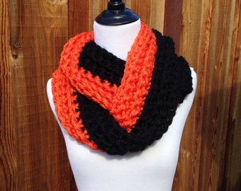 Chunky Infinity Scarf; Giants Infinity Scarf; Orioles Infinity Scarf, MLB, NFL, NCAAF, Sport scarf; Winter Scarf; Oklahoma State; Bengals