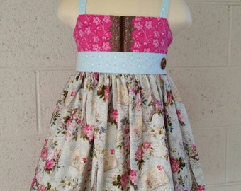 Ellie Rose Paris size 3, Girls Ellie dress ready to ship, Halter Ellie dress.