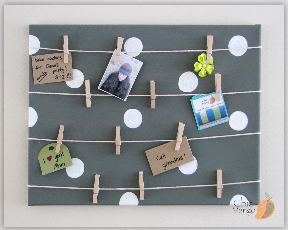 Bulletin board display board memo holder office by chicmango for Office display board