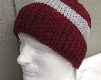 Mens knit wool blend hat - Mens beanie - Knitted Mens hat - Mens accessories