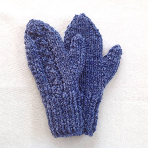 Ladies Mittens Knitting Pattern : Womens larger size wool mittens Knitted mittens Womens