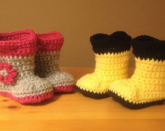 Puddle Jumpers: baby rain booties, baby rain boots, baby girl booties, baby boy booties, photo prop booties