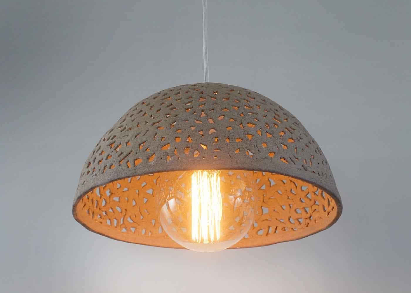 Ceramic Wall Lamp Shades : Ceramic lamp shade. Dome pendant light. Pendant lighting