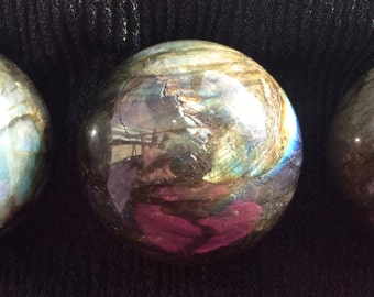 Labradorite Sphere, Divination, Scrying, Crystal Grid, New Moon, Full Moon, Chakra, Metaphysical, Pagan Altar, Magic, Spell!