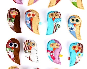 Owl Brooch PDF Tutorial and ePattern with Instructions, Easy Sewing Tutorial, Textile Pattern, Digital File for Instant Download
