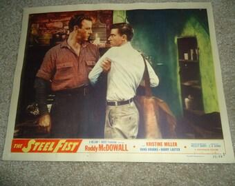 Original 1952 The Steel Fist Movie Poster Lobby Card Roddy McDowall