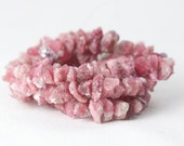 Raw Pink Tourmaline nugget beads rough tourmaline natural color no dye 7.5 inch strand 5-10mm pink tourmaline rough beads