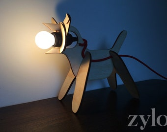 Dog Table Lamp with Red Cord - Postage Included