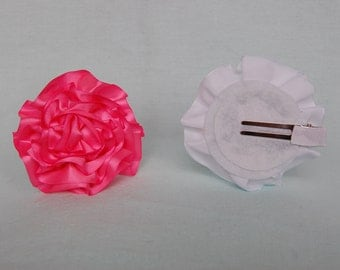 Simple Satin Flower Hair Clips