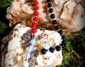 Celtic Moon Goddess Devotional or Prayer Beads Witch's Ladder