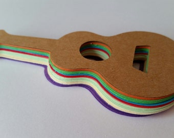 Fun Guitar Die Cut Outs!